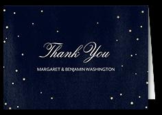 elegant sky thank you card