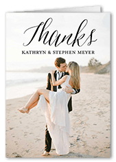 happily scripted thank you card