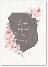 rustic wildflowers wedding response card