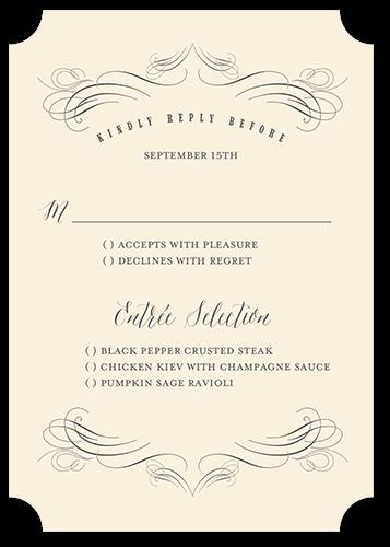 Terrific Twirls Wedding Response Card