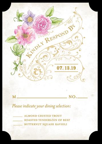 Elegant Enchantment Wedding Response Card