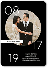 circled affection save the date