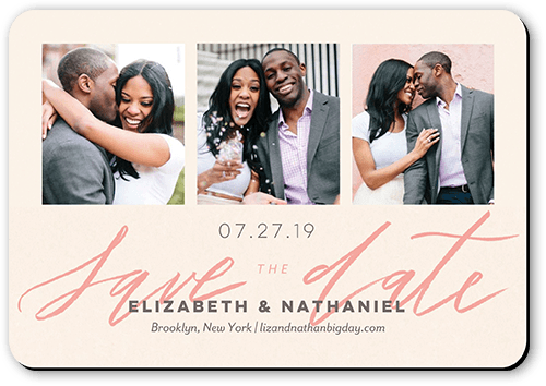 Minimal Design Save The Date, Square