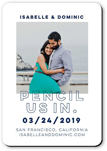 Pencil Us In Save The Date, Rounded Corners