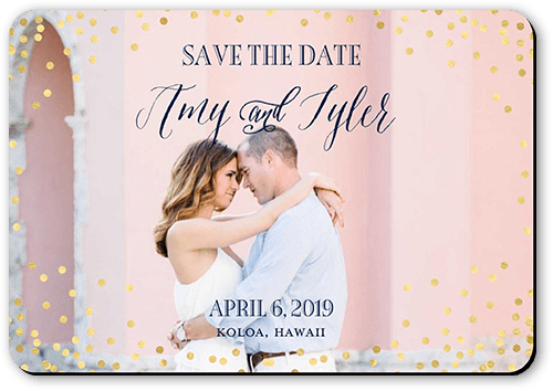 Effervescent Sparkle Save The Date, Rounded Corners