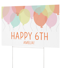 party balloons celebration yard sign
