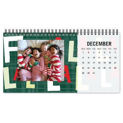 bold type desk calendar