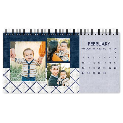 modern indigo desk calendar