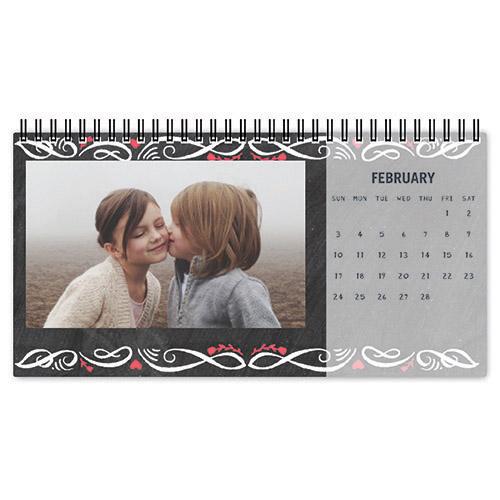 seasonal chalkboard desk calendar