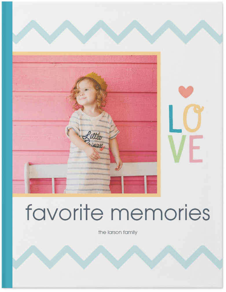 colorful childhood photo book