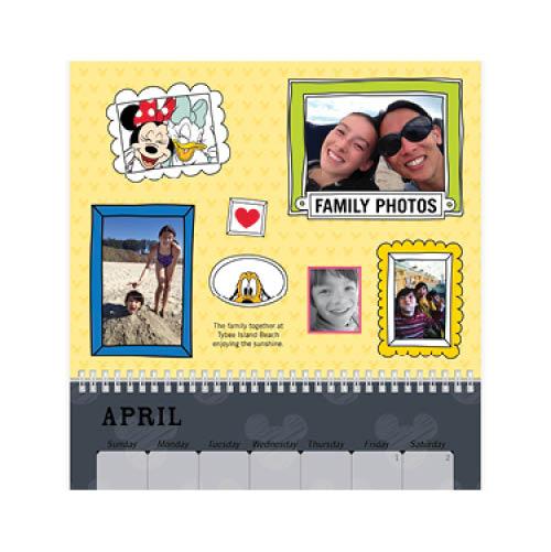 disney adventures calendar wall calendar