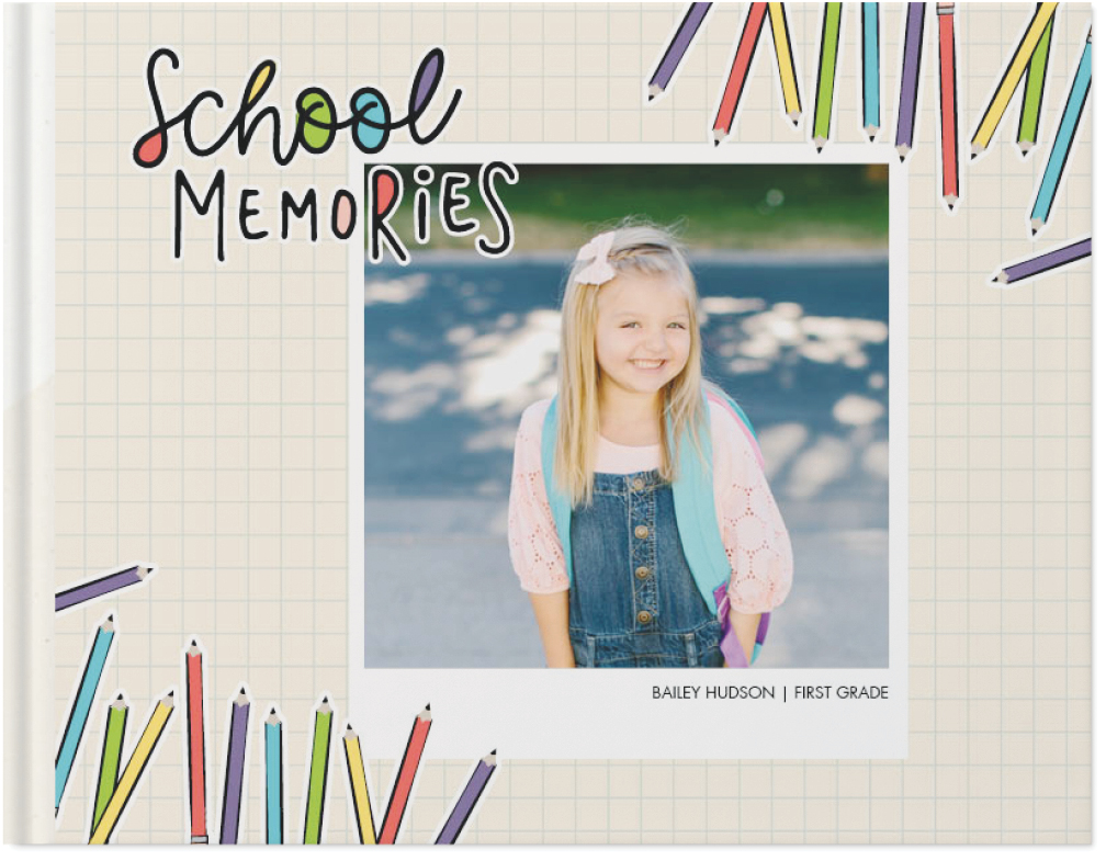 colorful school days by float paperie photo book