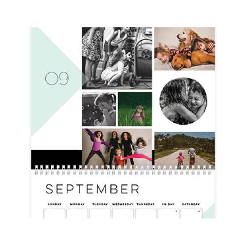modern collage wall calendar