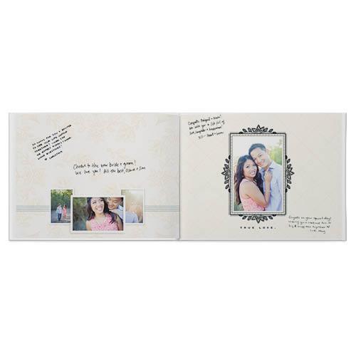 vintage wedding guestbook photo book