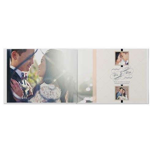 vintage wedding photo book