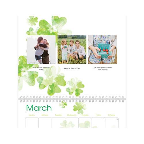 watercolor seasons wall calendar