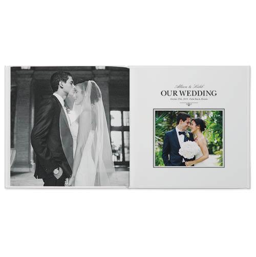 classic wedding photo book