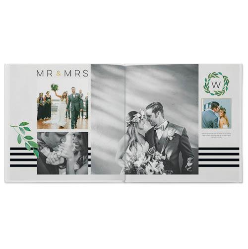 elegant wedding photo book