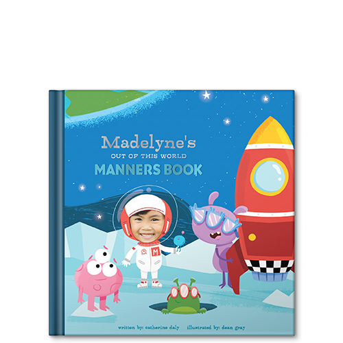 my out of this world manners book personalized story book
