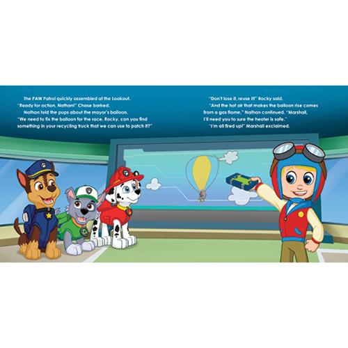 PAW Patrol and My Race Day Rescue! Personalized Story Book
