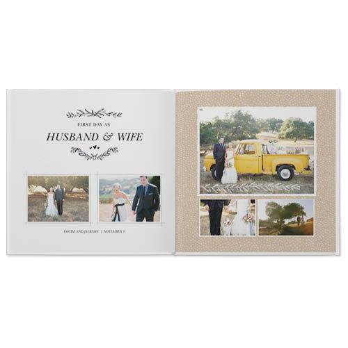 rustic wedding photo book