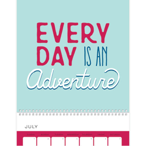 simply quotes wall calendar