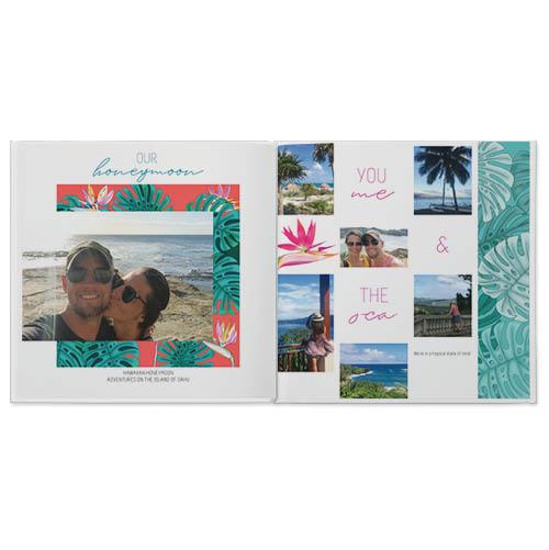 tropical honeymoon photo book